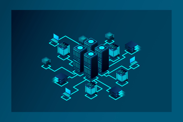 Netzwerkstruktur Datencenter und Nutzer