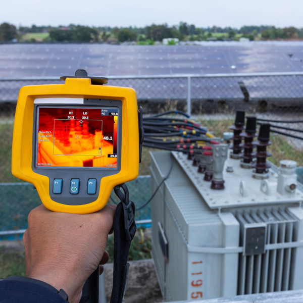 Thermographie eines Transformators